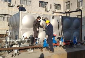 陕西龙门钢厂职工浴室换热器